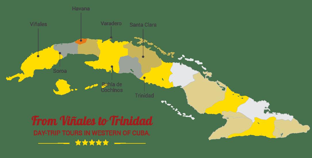 havana vintage car tours map