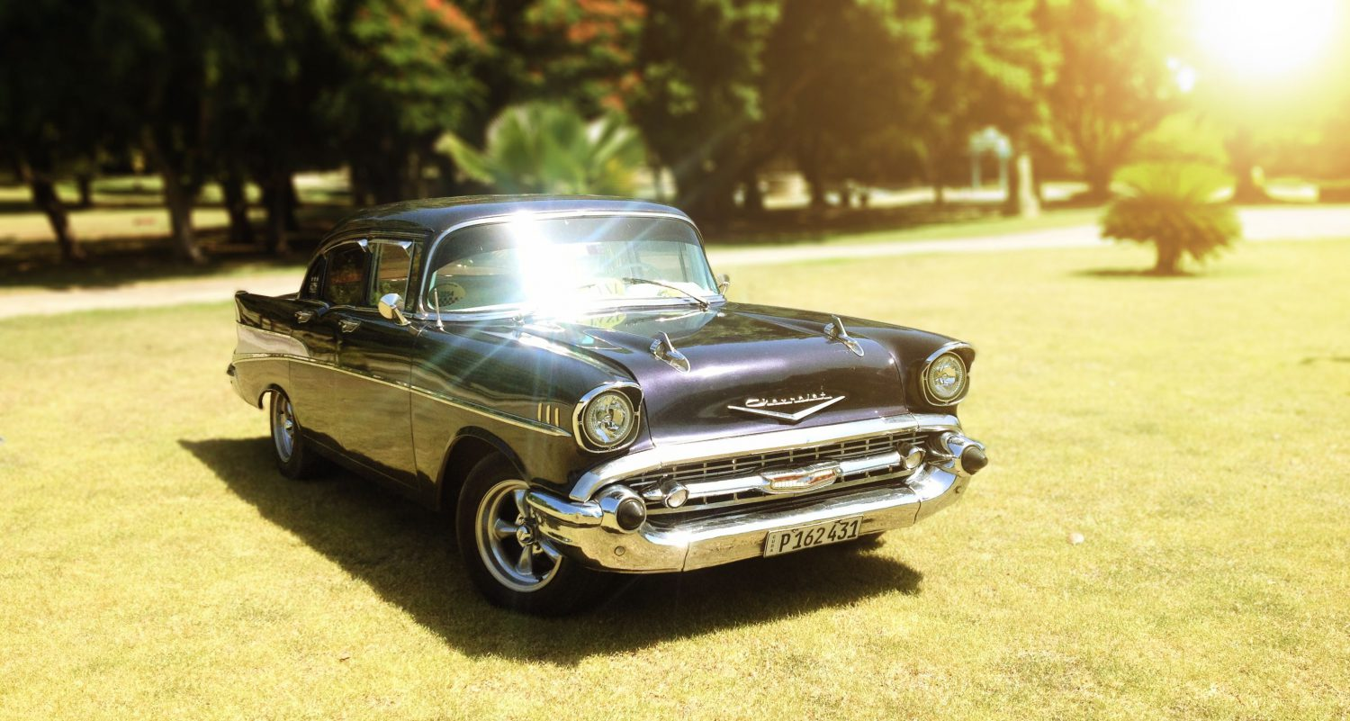 Our 1957 Chevy in a daytrip to Havana
