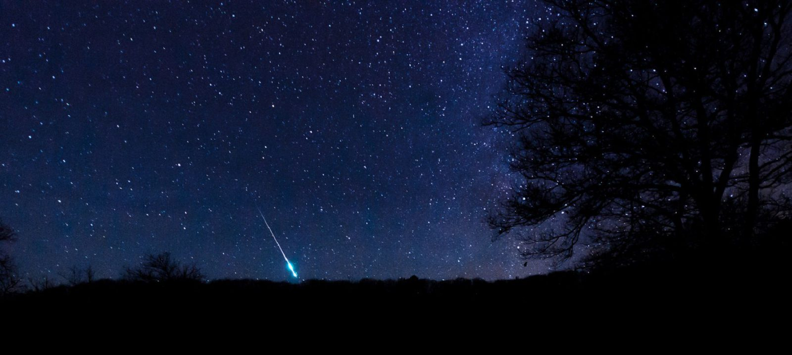 Meteor falling