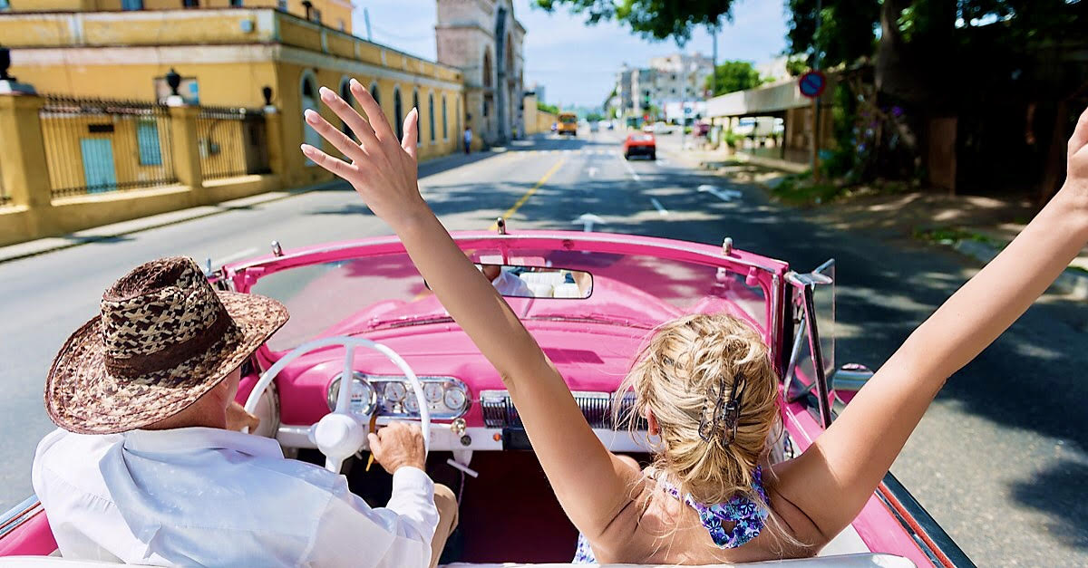 Convertible car ride in old Havana