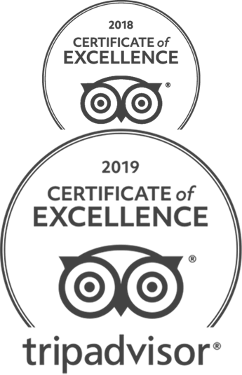 TripAdvisor Certification of Excellence 2018 and 2019