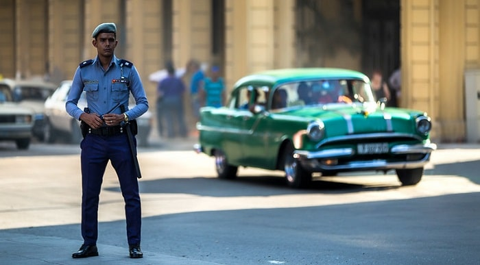 Cuban Police Officer on the street-min