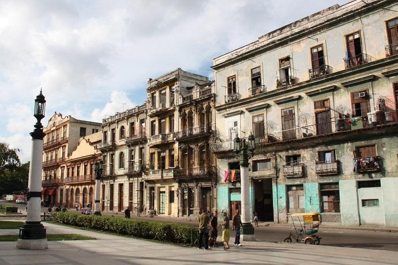 Facade of a Building in Cuba