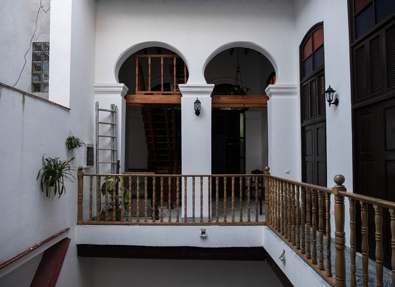 Patio of a hotel in Havana